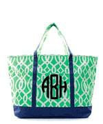 Monogrammed Monogrammed Large Boat Tote - Sunny and Southern - 1