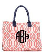 Monogrammed Monogrammed Large Tote - Sunny and Southern - 1