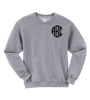 Monogrammed Crew Neck Sweatshirt, Ladies, Sanmar/virg, - Sunny and Southern,