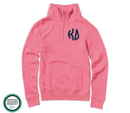 Monogrammed Greek Ladies Spring Quarterzip Jacket - Sunny and Southern - 1