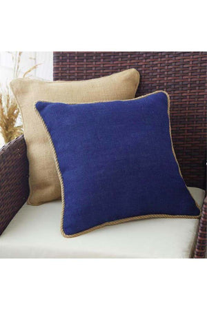 Navy Burlap Pillow, Home, Mud Pie, - Sunny and Southern,