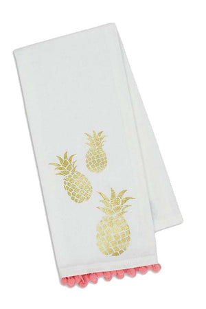 Classic Monogrammed Pom Pom Dish Towel, Home, Sunny and Southern, - Sunny and Southern,