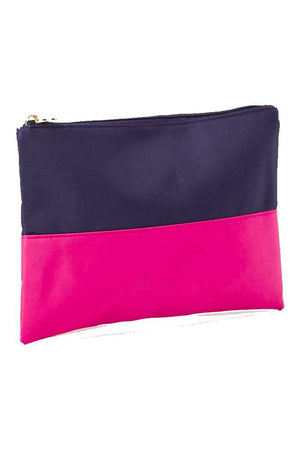Classic Monogrammed Colorblock Cosmetic Bag, Accessories, The Royal Standard, - Sunny and Southern,