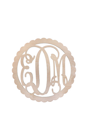 Scallop Wood Monogram, Home, WB, - Sunny and Southern,