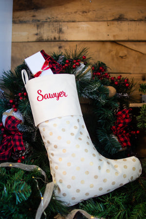 Personalized Stocking and Tree Skirt Set, , Sunny and Southern, - Sunny and Southern,