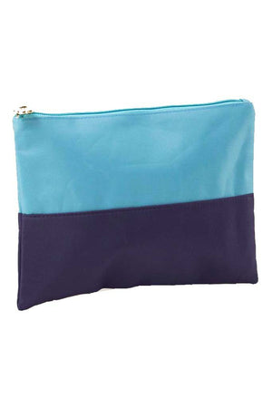 Monogrammed Colorblock Cosmetic Bag, Accessories, The Royal Standard, - Sunny and Southern,