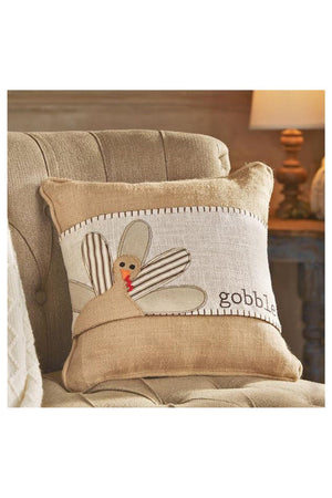 Gobble Turkey Pillow Wrap, Home, Mud Pie, - Sunny and Southern,