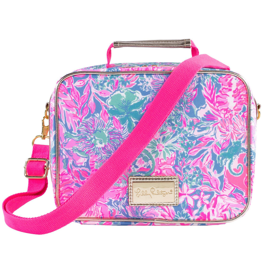 Lilly Pulitzer Classic Monogrammed Lilly Lunch Box Bag, Accessories, Lilly Pulitzer, - Sunny and Southern,