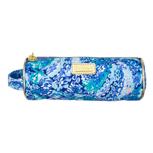 Lilly Pulitzer Classic Monogrammed Lilly Round Pencil Pouch, Accessories, Lilly Pulitzer, - Sunny and Southern,