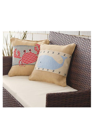 Crab & Whale Pillow Wraps, Home, Mud Pie, - Sunny and Southern,