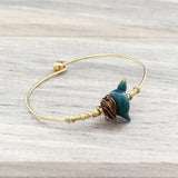 Blue bird of happiness bird bracelet