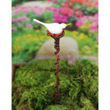 White dove bird tops custom garden art plant stake
