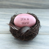 Pregnancy announcement for Girl gender reveal