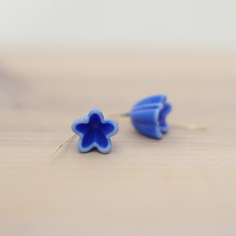 Blue flower earrings - Elise Thomas Designs