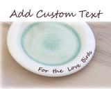 Wildflower bouquet soap dish with custom text - Elise Thomas Designs