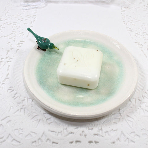 Blue bird soap dish or trinket plate - Elise Thomas Designs