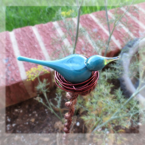 Blue bird Suncatcher yard decoration - Elise Thomas Designs