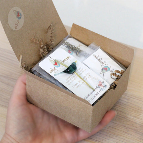 Bird necklace DIY jewelry craft kit - Elise Thomas Designs