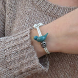 Nature inspired custom bird bracelet