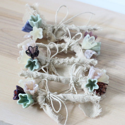 Rustic lapel flower corsage, Set of 6 - Elise Thomas Designs