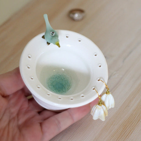 Love bird earring bowl and jewelry organize - Elise Thomas Designs