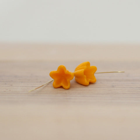 Buttercup yellow flower earrings - Elise Thomas Designs