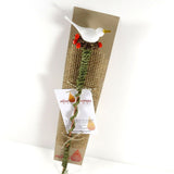 Dove & berries indoor garden plant stake