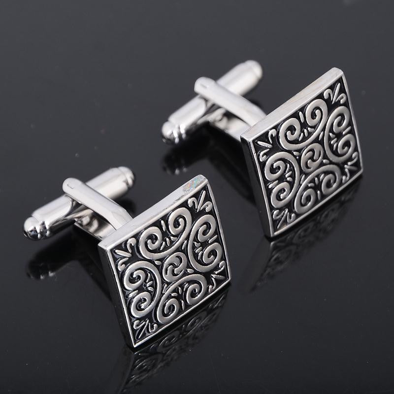 Vintage Wave Pattern Cufflinks