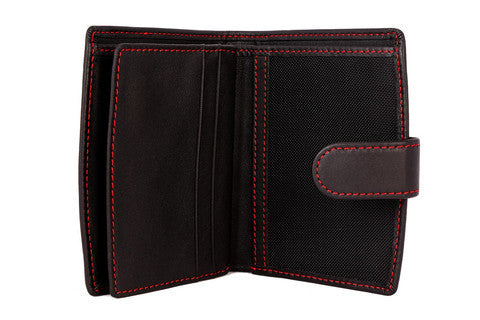 Atlantis Black Leather RFID Wallet