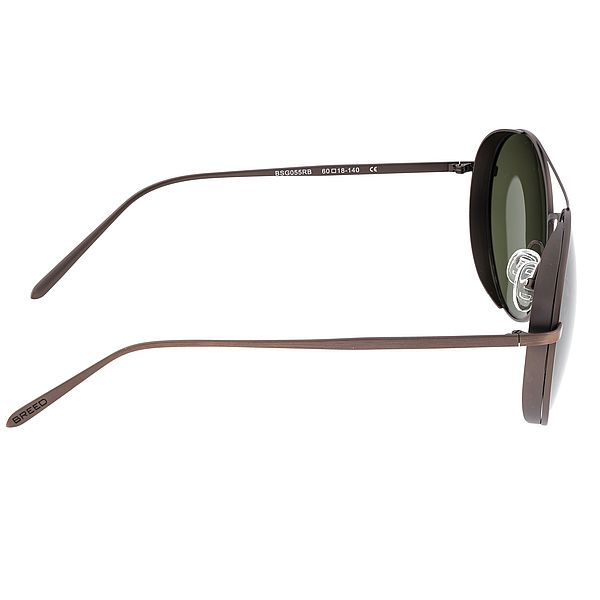 Breed Brown Barlow Titanium Polarized Sunglasses
