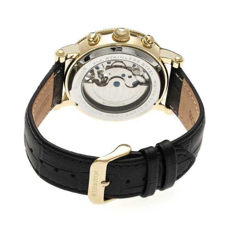 Heritor Gold Winston Watch