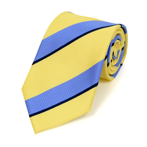 Track Blue and Yellow Stripe Tie