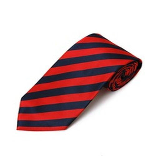 Red and Navy Blue Stripe Tie