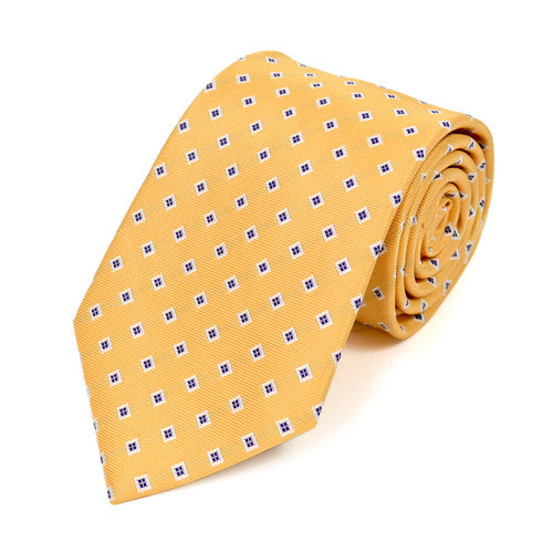 Yellow Square Dots Tie