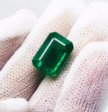 10.60 Ct Fine Natural Emerald Octagon Zambia UnTreated LooseGem Stone