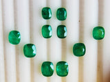10.07 Ct / 10 Pcs Fine Natural Emerald Cushion Necklace Zambia UN Treated LooseGem Stone