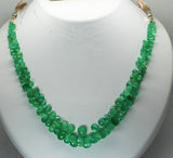 103.05 Ct Fine Natural Emerald Columbian Drops Necklace Un Traeted LooseGemstone
