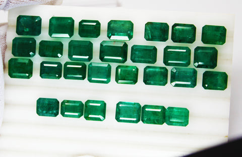 106.15 Ct Fine Natural Emerald MIX Zambia UnTreated Loose GemStone