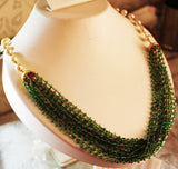 5000$ Fine Natural Emeralds & Pearls Necklace Studded in Gold 18K - RareGem.IN - 6