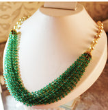 5000$ Fine Natural Emeralds & Pearls Necklace Studded in Gold 18K - RareGem.IN - 8
