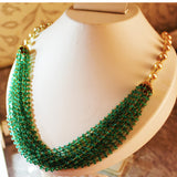 5000$ Fine Natural Emeralds & Pearls Necklace Studded in Gold 18K - RareGem.IN - 9