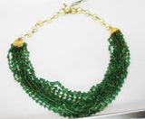 5000$ Fine Natural Emeralds & Pearls Necklace Studded in Gold 18K - RareGem.IN - 11