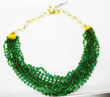 5000$ Fine Natural Emeralds & Pearls Necklace Studded in Gold 18K - RareGem.IN - 2