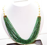 5000$ Fine Natural Emeralds & Pearls Necklace Studded in Gold 18K - RareGem.IN - 4