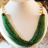 5000$ Fine Natural Emeralds & Pearls Necklace Studded in Gold 18K - RareGem.IN - 5