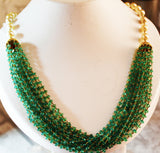 5000$ Fine Natural Emeralds & Pearls Necklace Studded in Gold 18K - RareGem.IN - 1