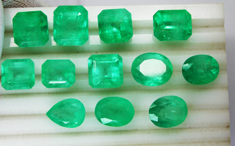 129.13 Ct Fine Natural Emerald Mix Columbian  UnTreated Loose Gemstone