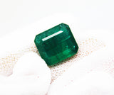 13.20 Ct Fine Natural Emerald Square Octagon Zambia UnTreated LooseGem Stone