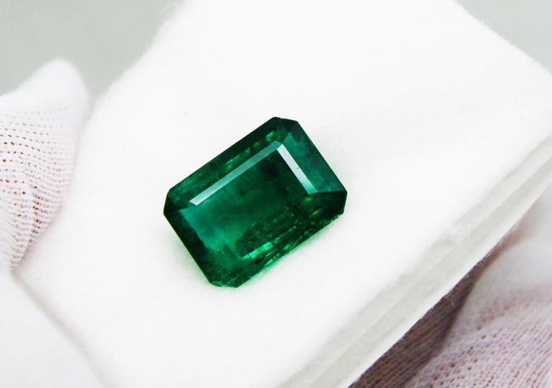 15.94 Ct Fine Natural Emerald Octagon Zambia UN Treated LooseGem Stone - R A R E G E M . I N