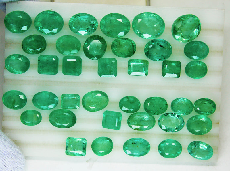 154.70 Ct  Fine Natural Emerald Mix  Russian UN Treated LooseGem Stone - R A R E G E M . I N